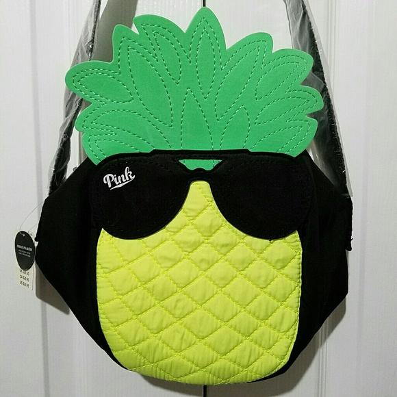 PINK Victoria's Secret Handbags - Victorias Secret PINK PINEAPPLE Cooler Lunch Tote